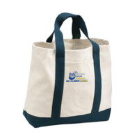 2-Tone Shopping Tote, Banner/Full Color  ***DESIGN IS ON OPPOSITE SIDE OF BAG PICTURED, NOT ON POCKET**