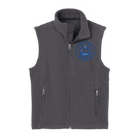 Polk, YOUTH Fleece Vest, Owl/Blue
