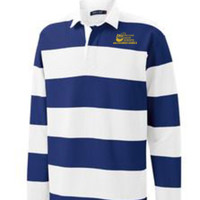 Adult Long Sleeve Rugby Polo, Banner/Yellow