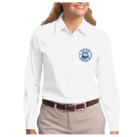 Ladies, Easy Care Long Sleeve Shirt, OWL/Blue