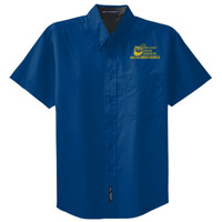 Adult Short Sleeve Easy Care Shirt, Banner/Yellow