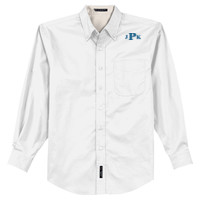 Adult Long Sleeve Easy Care Shirt, Monogram/Blue