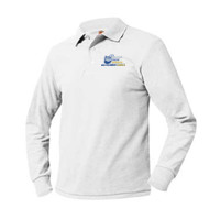 Adult Pique Long Sleeve Polo Sizes AS-AXL, Banner/Full Color