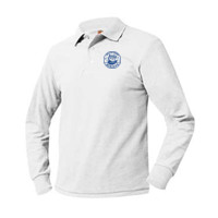 Adult Pique Long Sleeve Polo Sizes AS-AXL, OWL/Blue