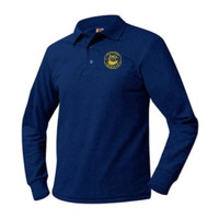 Adult Pique Long Sleeve Polo Sizes AS-AXL, OWL/Yellow