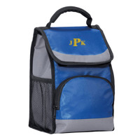 Flap Lunch Cooler, Monogram/Yellow