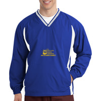 Polk, ADULT Tipped V Neck Raglan Wind Shirt, Banner/Yellow