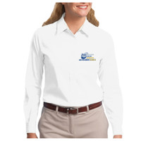 Ladies, Easy Care Long Sleeve Shirt, Banner/Full Color