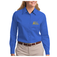 Ladies, Easy Care Long Sleeve Shirt, Banner/Yellow