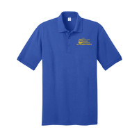 Adult Jersey Knit Short Sleeve Polo, Banner/Yellow