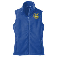 Polk, LADIES Fleece Vest, Owl/Yellow