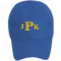 Youth Baseball Cap - Six Panel Twill, Monogram/Yellow
