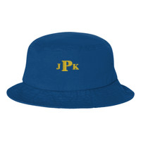 Bio-Washed Bucket Cap, Monogram/Yellow