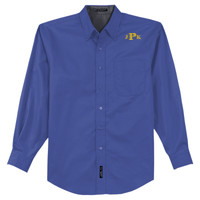 Adult Long Sleeve Easy Care Shirt, Monogram/Yellow