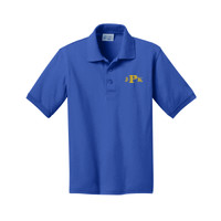 Youth Short Sleeve Polo Shirt, Monogram/Yellow